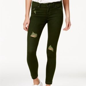 Army green articles of society skinny jeans